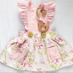 Handmade Vintage Style Floral Pinafore Dress